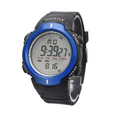 Waterproof Outdoor Mountaineering Sports Men Digital LED Quartz Wrist Watch Blue