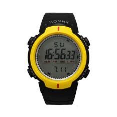Waterproof Outdoor Mountaineering Sports Men Digital LED Quartz Wrist Watch Yellow (Intl)