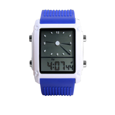 Waterproof Square Electronic Casual Watches Men Led Watch Water Resistant 30M Power Led Digital Quartz Watch Casual Dress Fashion Wristwatch Deep Blue (Intl)