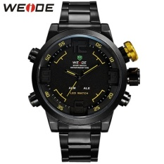WEIDE Brand Men's Military Watches Men Luxury Full Steel Quartz Watch LED Display Sports Wristwatches 30M Water Resistant 2309 - intl