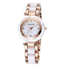WeiQin Brand Ladies Watch Imitation Ceramic Fashion Bracelet Watch-Gold White Gold (Intl)