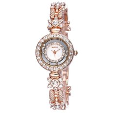WEIQIN Flower Shape Shell Dial Flowing Beads Decoration Beauty Trend Women Dress Wrist Watches Gold