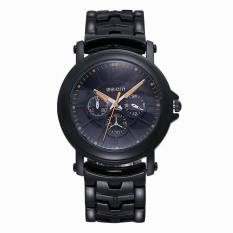 WEIQIN Luminous Hands Fashion Watches Men Luxury Brand Black Band Quartz Military Watch Male Relogio Masculino (Black&Black) (Intl)