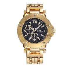 Weiqin Luminous Hands Hardlex Window Fashion Gold Watch Men Luxury Brand Analog Quartz Male Buisness Watches Relogio Masculino—Gold &Black