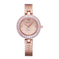 Weiqin Tag Colorful Shell Dial Crystal Rhinestone Women's Dress Watches Rose Gold (Intl)