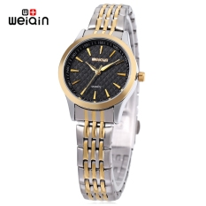 WEIQIN W00104L Women Quartz Watch Imported Movt Nail Shape Scale Stainless Steel Band Wristwatch