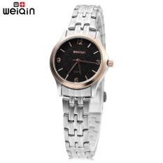 WEIQIN W00105L Female Quartz Watch Water Resistance Stainless Steel Strap 3ATM Wristwatch