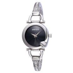 WEIQIN Women Fashion 25 Hour Analog Water Resistant Bangle Bracelet Ladies Watch Silver Black - Intl