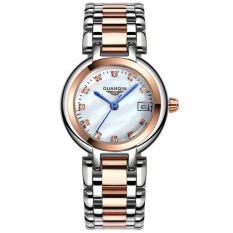 Weishi Luxury Fashion Leisure Women's Fine Steel Watch Waterproof Roman Surface Rose Gold Crown Qin GUANQIN Ladies Watch Fine Steel Series Ms. Diamond Quartz Watch