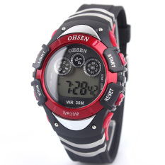 Wholesale Ohsen Brand Sport Watch Boys Child Digital Display Waterproof Silicone Band 7 Colours Yellow Fashion (Intl)