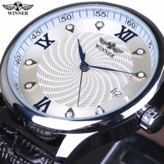 WINNER Fashion Men Mechanical Automatic Skeleton Dial Genuine Leather Strap Wrist Watch Classic Style Male Gift Clock