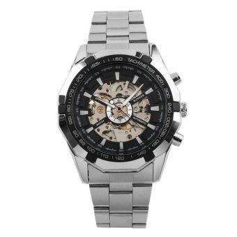 Winner Luminous Brand Watch Men Fashion Clock Skeleton Automatic Mechanical Relogio Male Luxury Montre Wristwatch Reloj Hombre(White) - intl