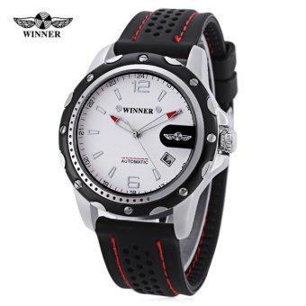 Winner Male Auto Mechanical Watch Calendar Water Resistance Wristwatch for Men - intl