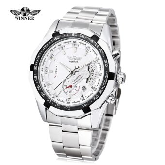 WINNER Male Auto Mechanical Watch Chronograph Date Display Working Sub-dial Wristwatch - intl