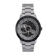 WINNER Men Skeleton Dial Automatic Mechanical Stainless Steel Watch (Silver)