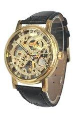 WINNER Men's Black Leather Strap Watch WINK021