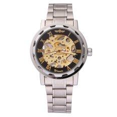 WINNER Men's Hand-Wind Mechanical Wrist Watch (Silver & Gold & Black) (Intl)