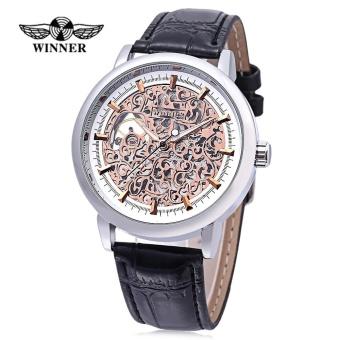WINNER W09 - 1 Male Auto Mechanical Watch Exquisite Hollow Pattern Dial Luminous Pointer Wristwatch - intl