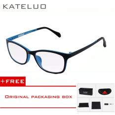 Wolfram KATELUO komputer kacamata anti laser kelelahan radiasi-tahan kacamata bingkai Eyewear tontonan Oculos 13031 (Biru