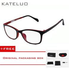 Wolfram KATELUO komputer kacamata anti laser kelelahan radiasi-tahan kacamata bingkai Eyewear tontonan Oculos 13031 (Merah