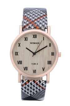 WoMaGe Fashion 1128-2 Women's Fashionable Round Dial Analog Wrist Watch Display Roman Numerals watch - intl