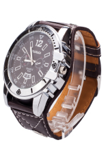 Womage Vintage Style Women's Red Leather Strap Watch 9322 Black (Intl)