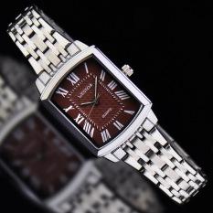 Womdee Authentic West Chi Westchi Fashion Square Silver Lady Square Quartz Watch W6126L (1 X Women Watch)