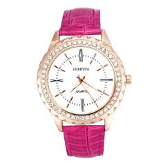 Women Business Casual Quartz Watch Hot Pink (Intl)