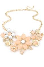 Women Fashion Chic Elegant Flower Pendant Necklace Lady Dress Decoration Jewellry Pink