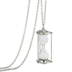 Women Lady Elegant Silver Hourglass Chain Necklace Fashion New Style Accessories-XL003 (Intl)