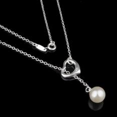 Women's Fashion Jewelry Pearl Pendant Necklaces(Silver) S925