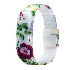 Womens Mens Rubber LED Watch Date Sports Bracelet Digital Wrist Watch (Intl)