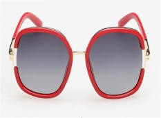 Women's new polarized sunglasses Classic fashion outdoor driving sunglasses(Red frame ) - intl