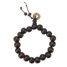 Wood Buddha Buddhist Prayer Beads Tibet Bracelet (Brown)