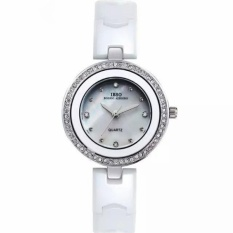 woowof IBSO The Small Dial Ceramic Watches Diamond Watch FashionJoker Ladies For Lady Lover Watches High-Grade Watch (White) - intl