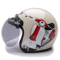 WTO Helmet Retro Bogo - Vespa - Krem