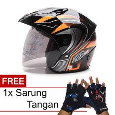 WTO Helmet Z1R PET - R2 Rider - Hitam Oren + Promo Gratis Sarung Tangan