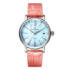 xiuya Polaroid long watch Girls simple fashion genuine waterproof quartz sapphire steel strap watch (Pink) - intl