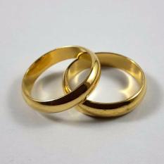 Xuping Cincin Couple Polos 18K Gold Plated