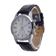 Yika Leisure and Business Disc Classic Retro Digital Watches Watch (White + Black) (Intl)