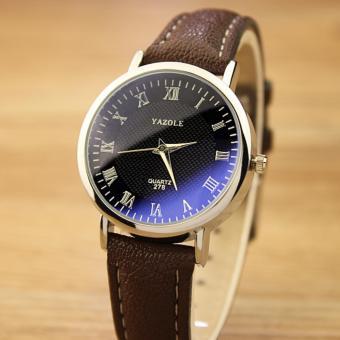 YAZOLE Classical Women Leather Band Fashion Joker Bussiness Quartz Wrist Watch YZL278H-B-Brown
