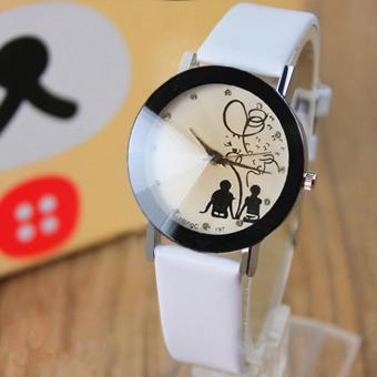 YAZOLE Classical Women Leather Band Fashion Joker Caulse Quartz Wrist Watch YZL175-B-White