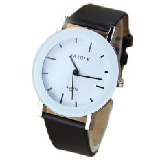YAZOLE Leather Quartz Watch Women Fashion Wrist Watches Ladies Wristwatch Quartz-watch Female Clock Small Dial (Black Strap) - Intl