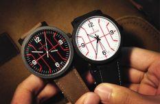 Yika Luxury Fashion Mens Women Stainless Steel Leather Band Quartz Analog Wrist Watch (Black) (Intl)