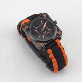 YBC parasut bertahan hidup jam gesper batu pemantik api peluit kompas selamatkan jam tangan - Internasional