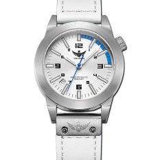 YELANG V1010 Women Style Blue Hand Tritium Gas Blue Luminous Waterproof Genuine Leather Strap Business Casual Quartz Watch