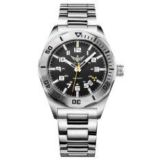 YELANG V1014.2 Mens Tritium Gas Blue Luminous Waterproof Genuine Steel Strap Business Diving Watch (Intl)