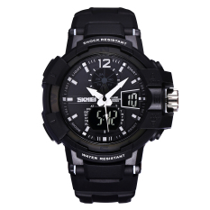 Yesefus SKMEI New Authentic Men#039;s Wristwatch With A Luminous Waterproof Watch Dual Movement Sports Watch - Intl