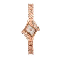 Yika Girl Women Lady Bracelet Quartz Wrist Watch Foliage Strap (White) (Intl)