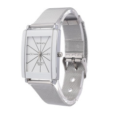 Yika Luxury Brand Women Men's Watch Stainless Steel Watch (White) (Intl)